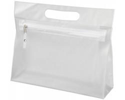 Toaletní taška AVIUM z průhledného PVC - bílá