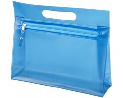 Toaletní taška AVIUM z průhledného PVC - modrá