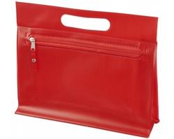 Toaletní taška AVIUM z průhledného PVC - červená