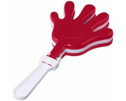 Plastová fandící tleskačka GOLLY pro hluk a potlesk - červená