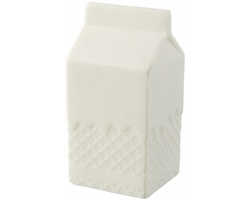 Antistresová pomůcka GARDE ve tvaru krabice od mléka - bílá