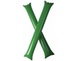 Nafukovací fandicí tyče TUSKEGEE pro sportovní fanoušky, 2 ks - zelená