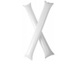 Nafukovací fandicí tyče TUSKEGEE pro sportovní fanoušky, 2 ks - bílá