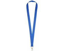 Polyesterový lanyard COLLEGE s kovovou karabinkou - královská modrá