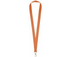 Polyesterový lanyard COLLEGE s kovovou karabinkou - oranžová