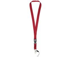 Polyesterová klíčenka QUEEN s odepínací přezkou - červená