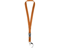 Polyesterová klíčenka QUEEN s odepínací přezkou - oranžová