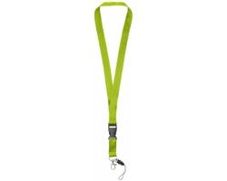 Polyesterová klíčenka QUEEN s odepínací přezkou - jemně zelená