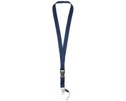 Polyesterová klíčenka QUEEN s odepínací přezkou - námořní modrá