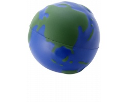 Antistresový míček WORLD s designem zeměkoule - modrá / zelená