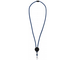 Polyesterový nastavitelný lanyard DANCERS - královská modrá / černá