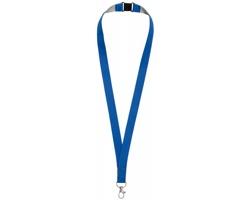 Polyesterový lanyard LANYDOS s bezpečnostní sponou - královská modrá