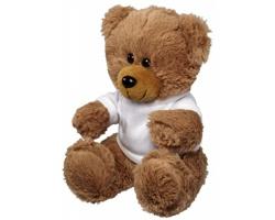 Plyšová hračka medvěd NIFF v tričku - bílá