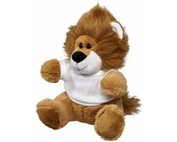 Plyšová hračka lev PECAN v tričku - bílá