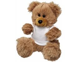 Plyšový medvídek COTS v tričku - bílá