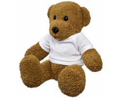 Plyšová hračka medvídek LOLL v tričku - bílá