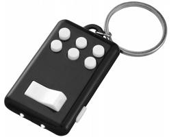 Plastový antistresový přívěsek na klíče NOTS pro zabavení prstů - černá / bílá