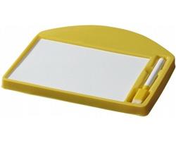 Popisovací a mazací tabule WOODIEST s fixem - žlutá