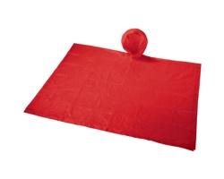 Skládací pláštěnka s kapucí LINEA v sáčku - červená