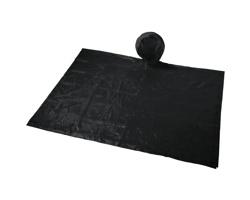 Skládací pláštěnka s kapucí LINEA v sáčku - černá