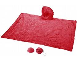 Pláštěnka HANDSOM s kapucí a pouzdrem jako přívěsek - červená
