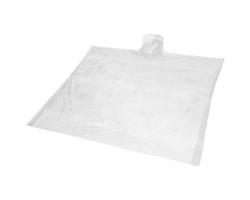 Plastová jednorázová pláštěnka JUNE ze 100% biologicky odbouratelného materiálu - bílá