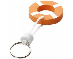Plovoucí přívěsek na klíče LAND - oranžová / bílá
