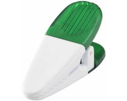 Magnetický držák HOGTY s klipem na vzkazy - transparentní zelená / bílá