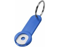 Přívěsek na klíče se žetonem do vozíku IRAQ - královská modrá