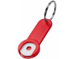 Přívěsek na klíče se žetonem do vozíku IRAQ - červená