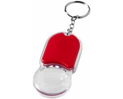 Plastový přívěsek na klíče PRIDE svítilna s lupou - červená