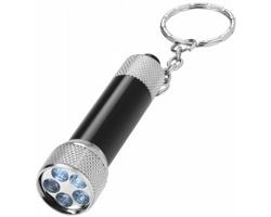 Hliníková LED svítilna na klíče CAWED - černá / stříbrná