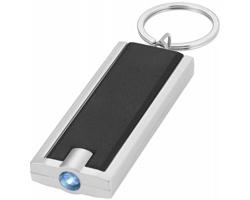 Plastová LED svítilna na klíče FELT - černá / stříbrná