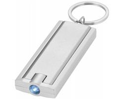 Plastová LED svítilna na klíče FELT - stříbrná