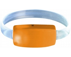 Multifunkční páska na zápěstí CONTR s LED světlem - oranžová / transparentní