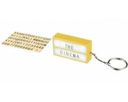 Plastový LED svítící box PRIME pro vlastní tvorbu textu - žlutá