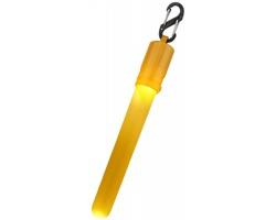 Plastová LED svíticí tyčinka GOGO s karabinou - žlutá