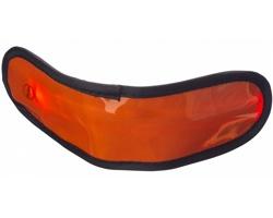 Plastový LED náramek GEMS, 3 režimy svícení - oranžová