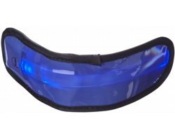 Plastový LED náramek GEMS, 3 režimy svícení - modrá