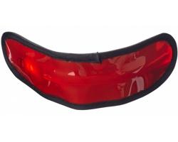 Plastový LED náramek GEMS, 3 režimy svícení - červená