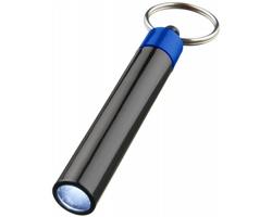 Plastová LED svítilna DAZES s malým kroužkem na klíče - královská modrá / černá