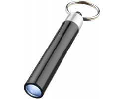 Plastová LED svítilna DAZES s malým kroužkem na klíče - stříbrná