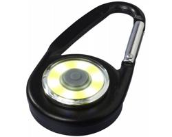 Hliníková LED svítilna TOOTSIES s karabinou - černá