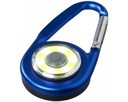 Hliníková LED svítilna TOOTSIES s karabinou - královská modrá