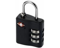 Kovový zámek na zavazadla ASME, schválený TSA - černá