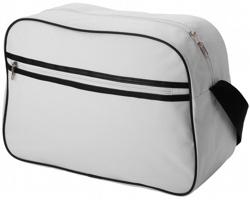 Taška přes rameno CAIN retro styl - bílá / černá