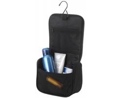 Cestovní kosmetická taška VETS s kovovým háčkem - černá