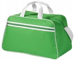 Polyesterová sportovní taška AVOID - středně zelená / bílá