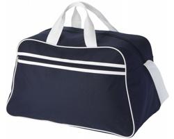 Polyesterová sportovní taška AVOID - námořní modrá / bílá