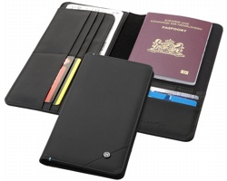 Cestovní náprsní poudro na doklady Marksman ODYSSEY RFID TRAVEL WALLET se zabezpečovací technologií RFID - černá